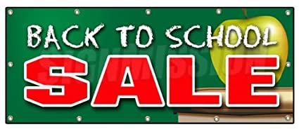 Amazon Com 48 X120 Back To School Sale Banner Sign Boys Girls