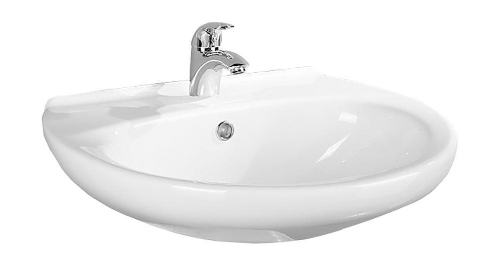 Waschtisch Aveiro | 65 cm | Weiß | Waschbecken | Waschplatz ...