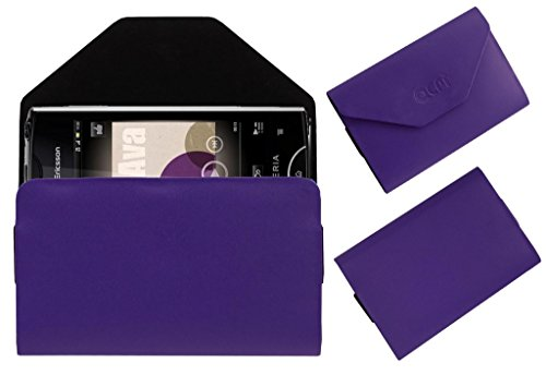 Acm Pouch Case Compatible with Sony Ericsson Xperia Ray St18i Flip Flap Cover Holder Purple