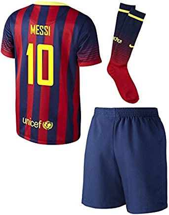 15b77f22c00 Amazon.com: MESSI #10 Barcelona Toddler Home Mini-Kit set: Clothing