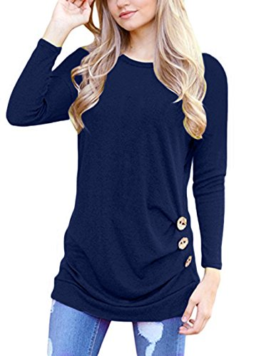 Royal Blue Long Sleeve Pullover - 7