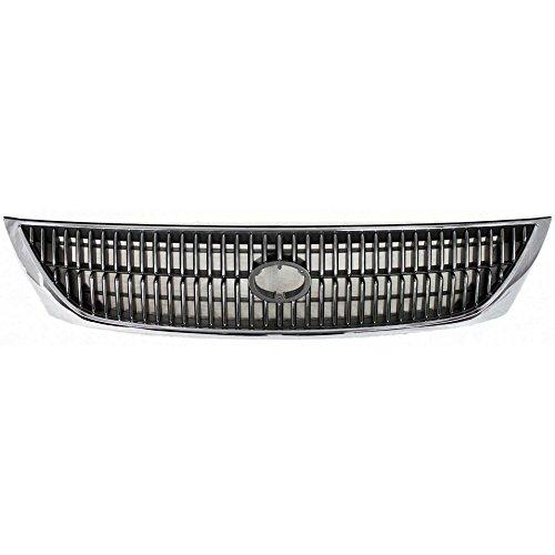 Evan-Fischer EVA17772050922 Grille for Toyota Avalon 00-02 Chrome Shell/Painted-Silver Black Insert