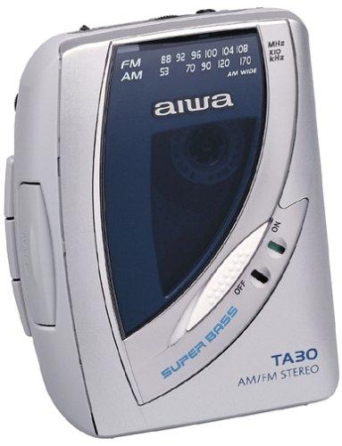 Aiwa HS-TA30 AM/FM Stereo Cassette w/Super Bass