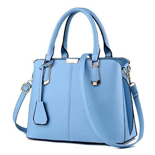 celeste Hombro de Bolsas Mujer azul Granate diseño de Piel Mujer Mujer para sintética qingqinghebiao 30x15x23cm gA6qww