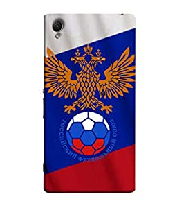 ColorKing Football Russia 30 Multi Color shell case cover for Sony Xperia Z1