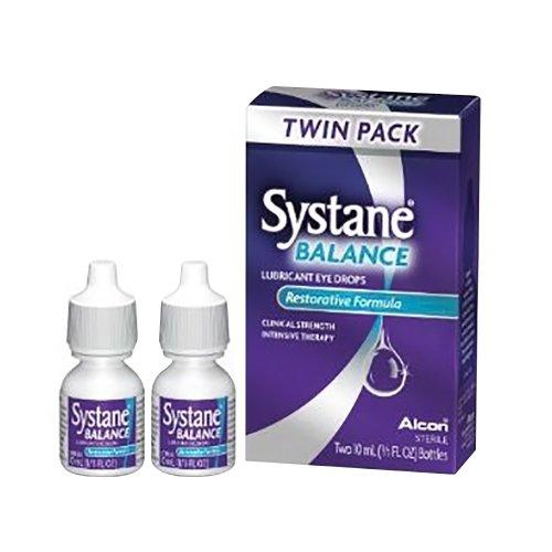 Gouttes oculaires lubrifiantes Systane balance avec la Formule réparatrice, Twin Pack - 0,67 Oz