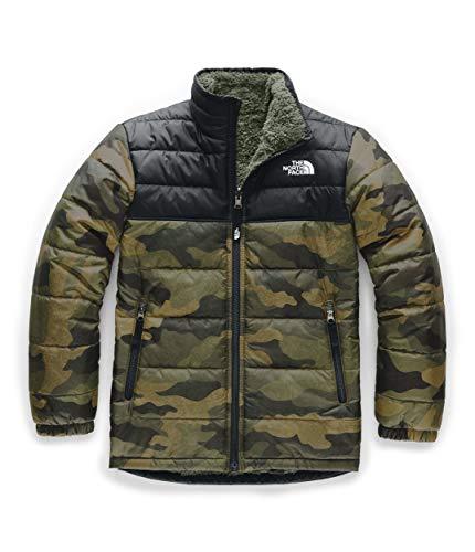 The North Face Kids Boy's Reversible Mount Chimborazo Jacket (Little Kids/Big Kids) British Khaki Waxed Camo Print X-Small (Childrens North Face Coat)