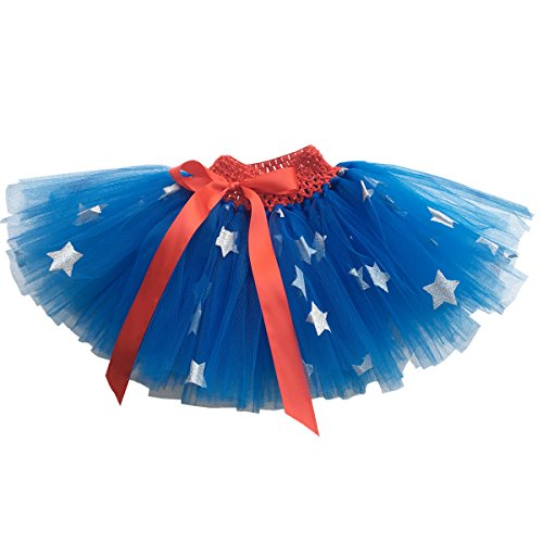 Baby Girls Superhero Tutu Outfit for 0-2T Infant Halloween Costume]()
