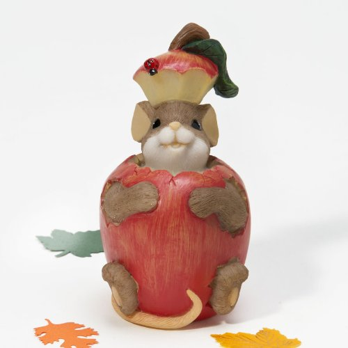 There's Something Very Special In You Charming Tails Figurine Apple Fall Season