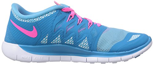 0 Running Powder Nike Kids' Unisex Pink Lagoon Blue White Free 5 Shoes Volt qrqwvpyXEc