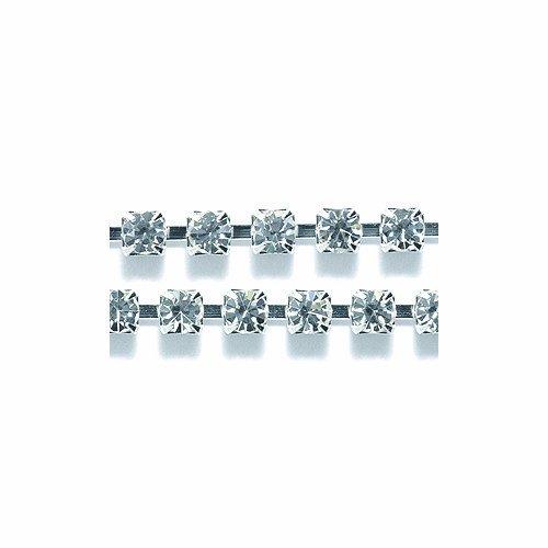 Preciosa Size SS14.5 Crystal Rhinestone with Silver Cup Chain