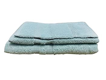 Terry Turkish Cotton Towel, 1 Pack, Set of 3, Nautical Teal