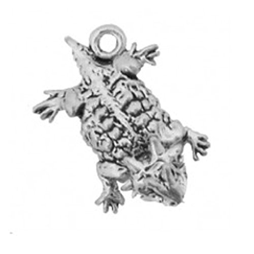 etailed Mini Horned Southwest Horny Toad Lizard Charm ()