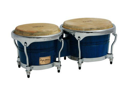 Tycoon Percussion 7 Inch & 8 1/2 Inch Concerto Series Bongos - Blue Finish by Tycoon Percussion