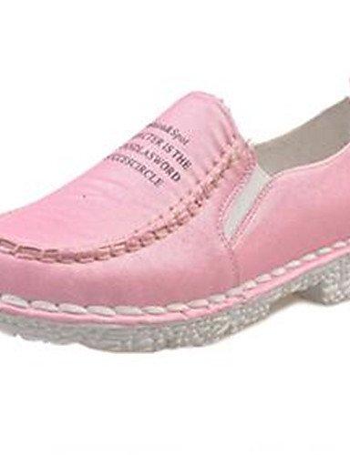 ZQ Zapatos de mujer-Plataforma-Creepers-Mocasines-Exterior / Casual-Semicuero-Azul / Rosa / Blanco / Gris , gray-us9 / eu40 / uk7 / cn41 , gray-us9 / eu40 / uk7 / cn41 pink-us6 / eu36 / uk4 / cn36