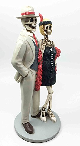 Roaring Twenties The Great Gatsby Figurine Dia De Muertos Day of The Dead Dance Couple by Ebros Gift (Image #1)