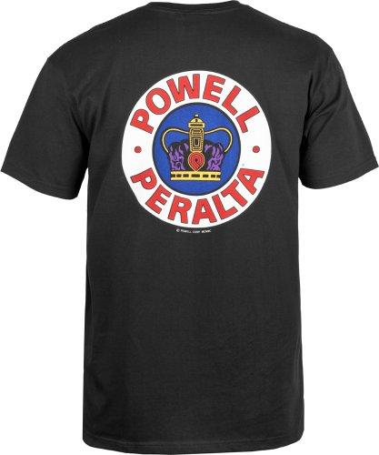 Powell-Peralta Supreme T-Shirt (Medium, Black)