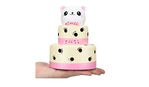 Amazon.com: Squishy Toys Slow Rising Charm Bear Cream Cake Scented Squeeze Toys Stress Relief Squishy Jumbo Kawaii Squishies for Boys Girls Adults Kids ...