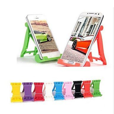 1PC F1 Car Shaped Plastic Folding Stand for Samsung Iphone Adjustable Universal Desk Top Phone Mount for Samsung S4 I9500, S5 I9600, iPhone 7, Iphone 6 Random Color Replica Desk Telephone