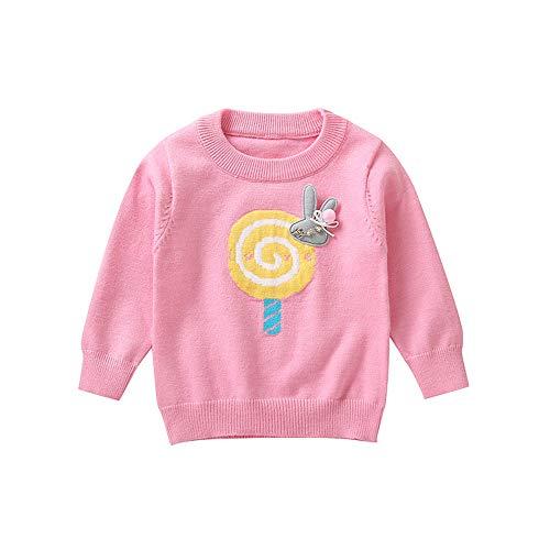 Baby Clothing,Toddler Infant Baby Girl Lollipop Rabbit Pullover Sweater Sweatshirt Tops,Baby Girls' One-Piece Footies,Pink,100 -