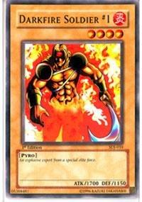- Yu-Gi-Oh! - Darkfire Soldier #1 (SDJ-010) - Starter Deck Joey - Unlimited Edition - Common