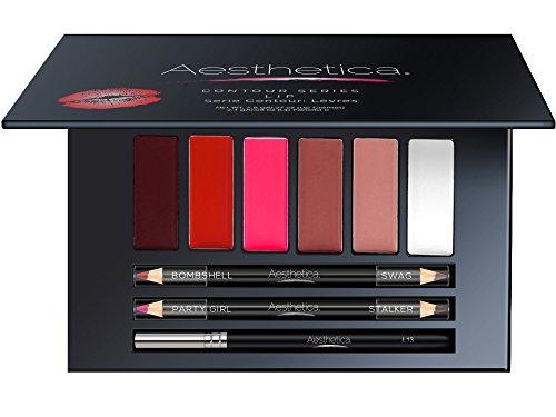 19321087550 Aesthetica Matte Lip Contour Kit - Lipstick Palette Set Includes 6 Lip  Colors