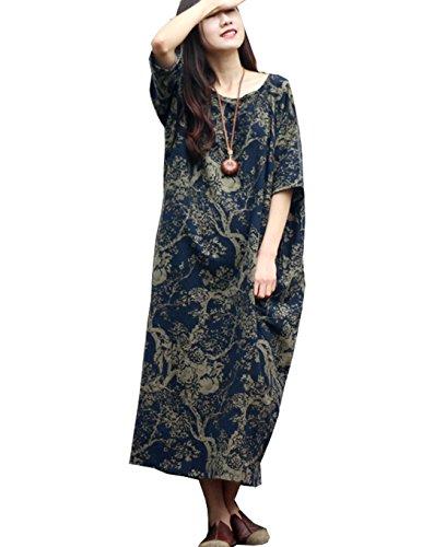 long black linen dress - 8