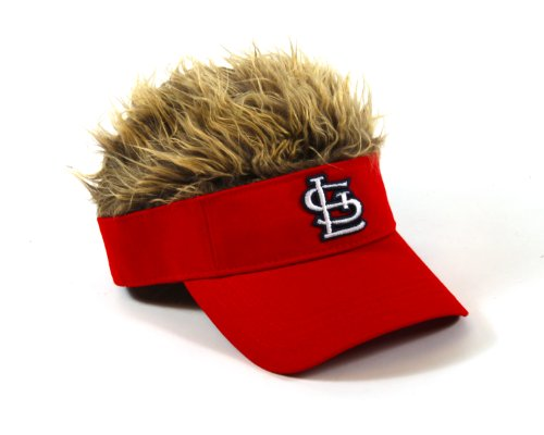 MLB St. Louis Cardinals Flair Hair Adjustable Visor, Red (Hair Hat Visor)