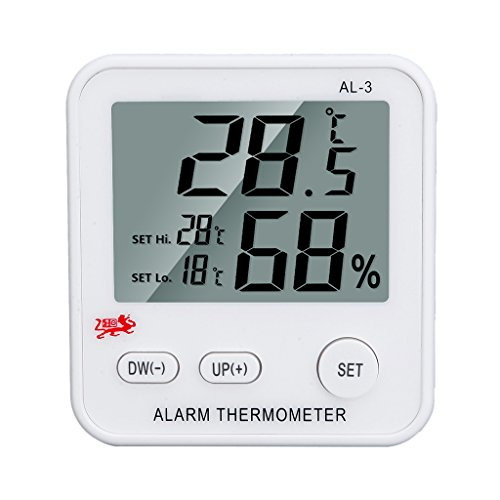 MagiDeal Easy to Read Refrigerator Freezer Thermometer Alarm High & Low Temperature Display Alarms Settings from Unknown