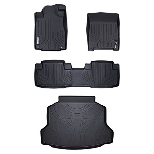 Maxliner Floor Mats 2 Rows And Cargo Liner Set Black For 2012 2016 Honda Cr V
