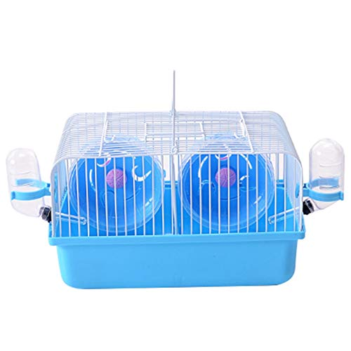 SODIAL Pet Hamster Cage Portable Small Pet Cage Nest Cute Water Bottle Hamster Toy Sport Running Wheel Guinea Pig House Hamster Cage Marriage