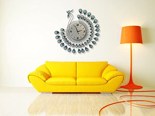 Silent Wall Clock Peacock Feature 26''inch
