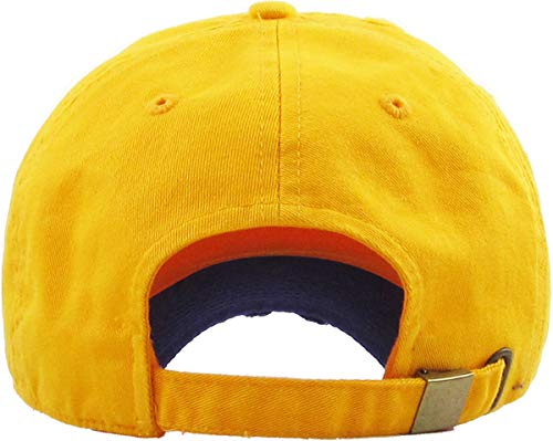 d2569b73178 KBE-Vintage GLD-PUR Vintage Washed Cotton Dad Hat Baseball Cap Polo Style