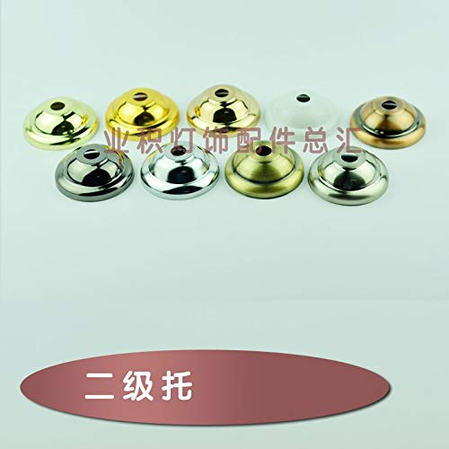 - Gimax 2 grade tray metal cover cap British cap Plating fittings Pendant lamp base tray Ceiling Canopy Lighting accessories hardware - (Color: green bronze)
