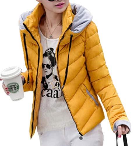 EKU Womens Lightweight Hooded Quilted Winter Puffer Outwear Down Coat 3