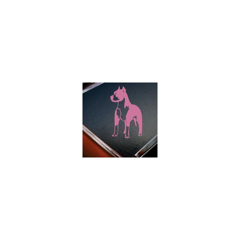 Pitbull Standing Bull Terrier Dog Pink Decal Car Pink Sticker