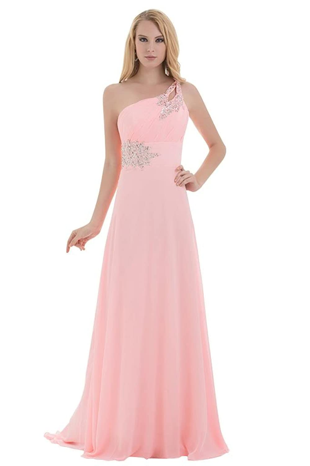GEORGE BRIDE Spanish Sweetheart One-Shoulder Ruched Bodice Evening Dress