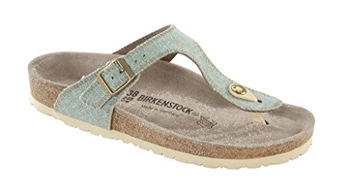 Birkenstock Thong ''Gizeh'' from Leather/Textile in Mint 41.0 EU W