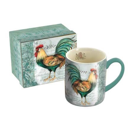 Lang Royal Rooster Mug by Susan Winget, 14 oz, Multicolored