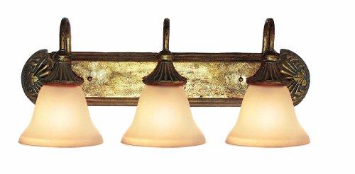 Woodbridge Lighting 53002-AGD Kensington Park 3-Light Bath Light, Antique Gold (Gold 3 Light Wall)