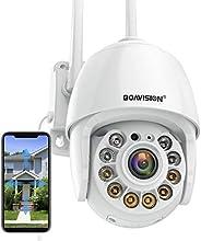 Cámara de seguridad al aire libre, cámara IP inalámbrica WiFi sistema de seguridad en el hogar 360 ° ver, dete