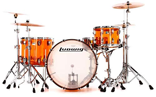(Ludwig Vistalite John Bonham Zep Set Shell Pack with Snare Drum - Amber)