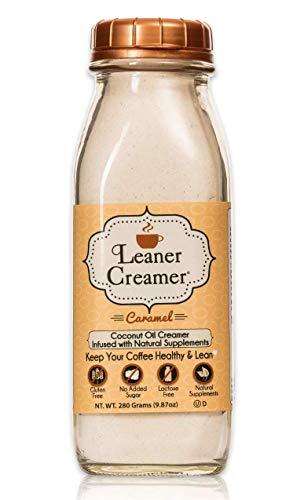 Leaner Creamer- Coffee Creamer Powder: Keto | Non-Dairy | Paleo | Sugar Free- Creamy Caramel (280g)