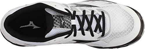 Image of Mizuno (MIZD9) Wave Bolt 7 Volleyball Shoes, White/Black, Men's 7 D US