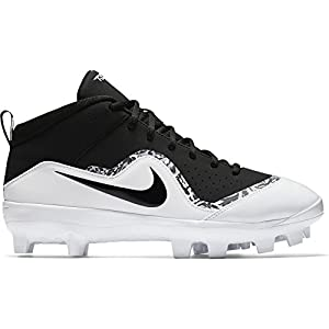 NIKE Men's Force Trout Pro MCS Baseball Cleat Black/White/Cool Grey Size 9.5 M US