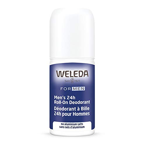 Weleda Men's 24 Hour Roll-On Deodorant, Herbal, 1.7 Fluid Ounce