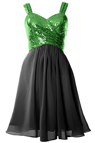 Sequin Black Formal Green Bridesmaid Gown Cocktail MACloth Cowl Dress Gorgeous Short Back fnwxHP6