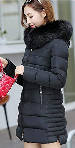 Lining Winter Coat Thicken Long Womens Jacket Sleeve Hooded Faux Long Warm TTYLLMAO Fur Black Parka PZqwzOxRR