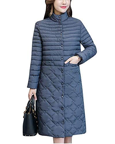 Donna Size Calda Da Leggera Home Capispalla Women Giacca Parka Grey Casual Jacket Calda Imbottito color Caramel L zqFX64