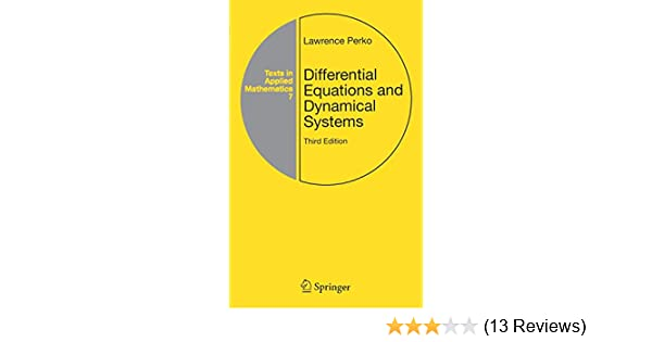 Differential Equations and Dynamical Systems, Third Edition